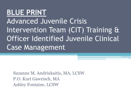 BLUE PRINT Advanced Juvenile Crisis
