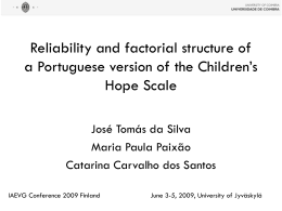 Reliability and factorial structure of a Portuguese version of the