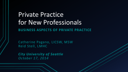 business aspects of private practice