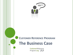 The Business Case for Customer Reference Programs