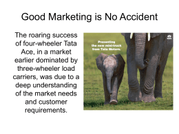 Good Marketing is No Accident
