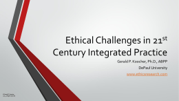 KPA 21st Century Ethics in Integrated Practice