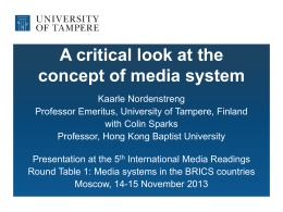 Comparative Mass Media Systems