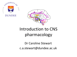 CNS pharmacology