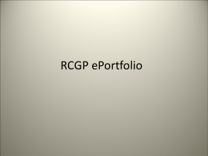 RCGP ePortfolio - Bristol GP Education