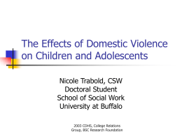 Domestic Violence - Center for Development of Human Services