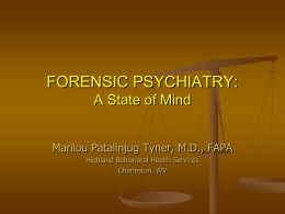 CME-2012-MPatalinjug-Forensic-Psychiatry
