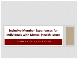 Inclusive Member Experiences for Individuals with Mental Health