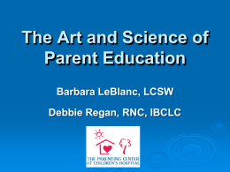 TheArtandScienceinprogress - Louisiana Parenting Education