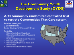 CYDS - Social Development Research Group