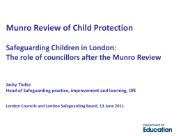 Jacky Tiotto - The Munro Review of Child Protection