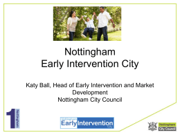 `Prevention and Early Intervention – it`s the best for all`