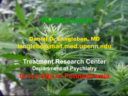 704 Marijuana - University Psychiatry