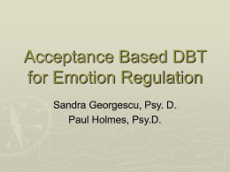 ACT-ifying DBT - Joanne Steinwachs, LCSW