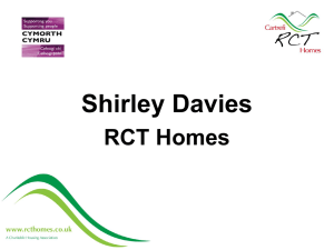 Shirley Davies RCT Homes Collaboration