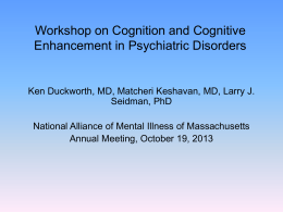 Cognitive Enhancement Therapy (CET) presentation slides