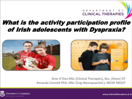 What is the activity participation profile of Irish adolescents