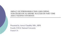Student teacher stress and physical exercise