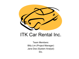 ITK Car Rental Inc.