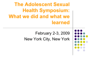 The Adolescent Sexual Health Symposium