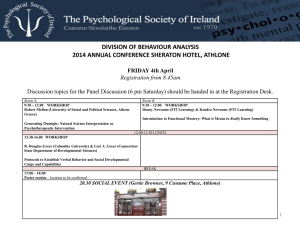 dba programme 2014 - Behaviour Analysis in Ireland