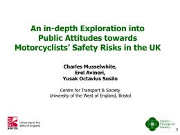 An in-depth exploration into public attitudes towards motorcyclist risk