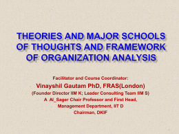 Emergence of Organisation Theories