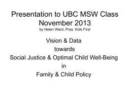 Presentation to UBC MSW Class November 2013