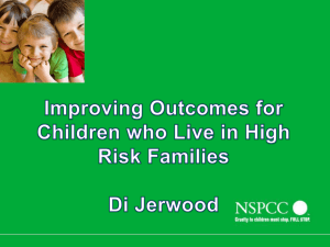 Di Jerwood - Children in high risk families