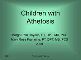 Children with Athetosis