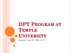 DPT Program at Temple University - Temple Pre