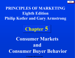 Chapter 5: Consumer Markets