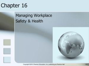 Safety and Health Chapter 16