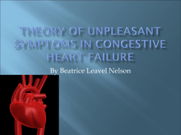 Theory of Unpleasant symptoms in Congestive heart failure