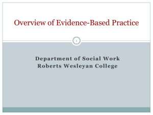 Overview of Evidence-Based Practice