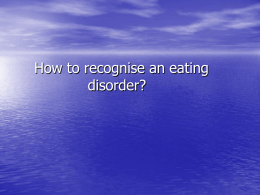 Eating Disorders GP Training (MS Powerpoint)