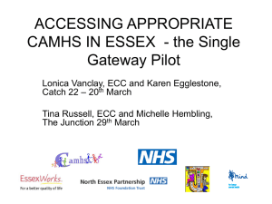 CAMHS Single Gateway