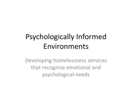 to view presentation - Youth Homeless North East