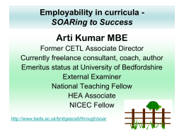 Employability in curricula
