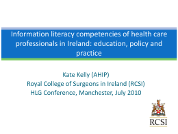 Information literacy competencies of health care