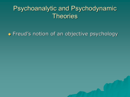 Psychoanalytic and Psychodynamic Theories