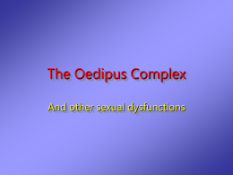 The Oedipus Complex