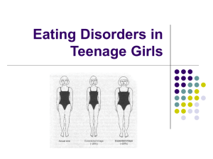 Eating Disorders in Teenage Girls