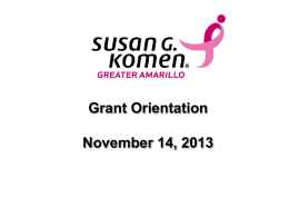 2014-2015 Grant Orientation Workshop Presentation