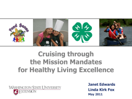 Cruising Through the Mission Mandates for Healthy living Excellence