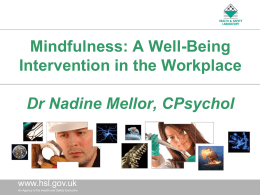 Mindfulness: a Well-Being Intervention in the Workplace