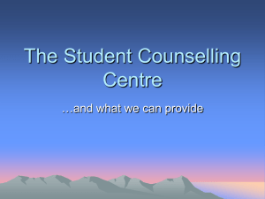 The Student Counselling Centre