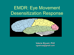 EMDR: Eye Movement Desensitization Response
