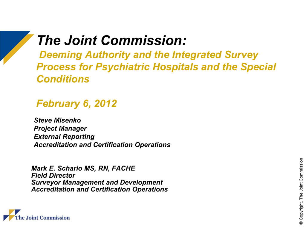 Deeming authority cmss oversight and the joint commissions 1betcityfo Image collections