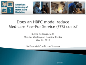 In Medicare FFS - American Academy of Home Care Medicine